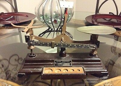 Antique Vintage Henry Troemner Apothecary Brown Scale Model 6