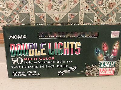 "Noma ""Double Lights"" 50 multi color lights-2 filaments-2 colors"