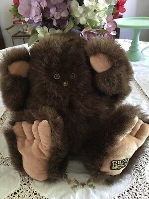 "Vintage  Brown Beeple Big Foot  Plush Doll  16"" Tall Carousel Toys"