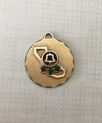 Pacific Pac Bell Telephone Co California Employee Award Pendant Gold Tone