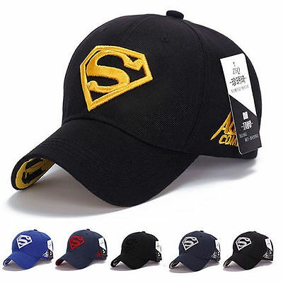Men Women Unisex Ball Baseball Cap SUPERMAN all Hat Flex Fit Sports Outdoor