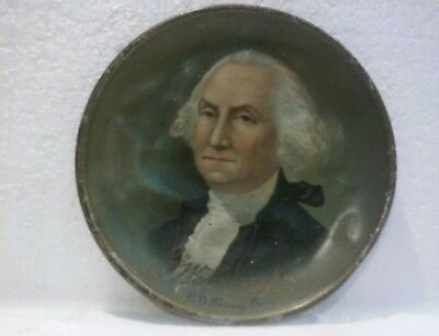 1880's TIN-LITHO GEORGE WASHINGTON TIP TRAY BY C.D. KENNY CO.