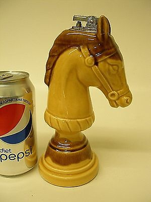 """Vintage Porcelain Table Lighter Horse Head  / Knight Chess Piece 7.5"""""""