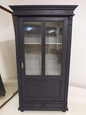OLD FRENCH DISPLAY CABINET - ARMOIRE - CUPBOARD - g120