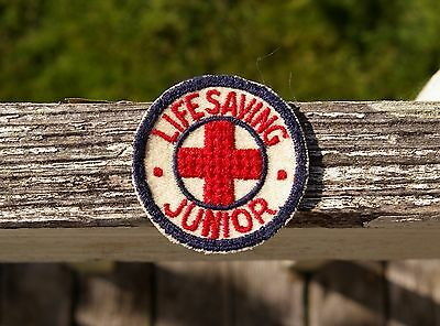 "Red Cross Lifesaving Junior 2"" Embroidered Patch"