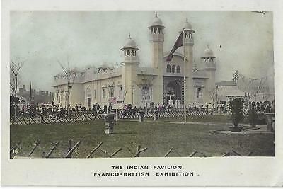 British Exhibition  The Indian Pavilion Franco - British Exhibition Rp Postcard
