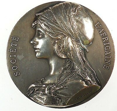 France and colonies Africa SOCIETE L'AFRICAINE silvered-bronze 50mm by Beloc