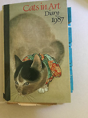 Vintage Estate  Recipe Collection Clippings in Cats In Art Calendar City Isand