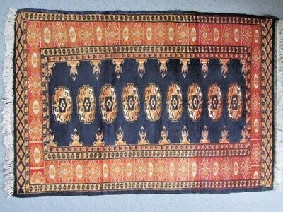 Vintage Middle Eastern Wool Hand Woven Rug