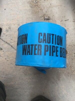 Caution Underground Warning Tape Water Pipe 2 Industrial Size Rolls Bunting