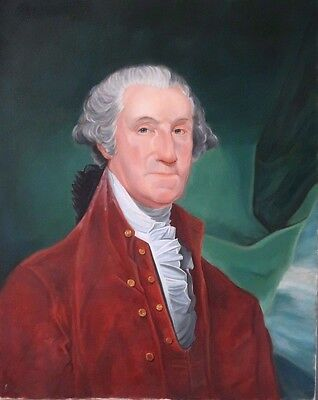 "Vintage Oil Painting on Canvas Portrait of George Washington 24"" x 30"""