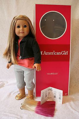 American Girl of the YEAR ISABELLE gently used in BOX with JACKET & hair piece
