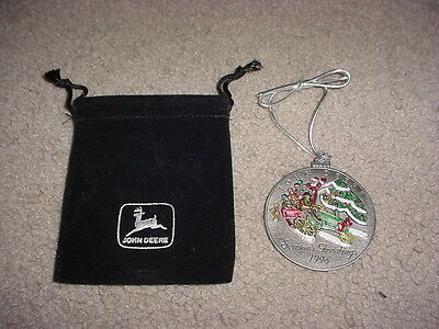 John Deere 1998 Pewter Christmas Ornament No. 3 in Collectible Series Medallion