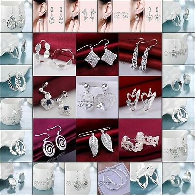 Wholesale New fashion Womens Fashion Jewellery Solid 925Silver Charm Earrings