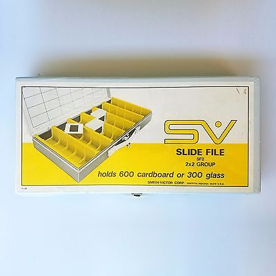 Smith-Victor SV Slide Case Holds 600 Cardboard Or 300 Glass Slides SF2 - Wrapped