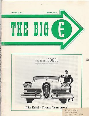 "The Big E Edsel Magazine Winter 1976-77,""the Edsel Twenty Years After"""