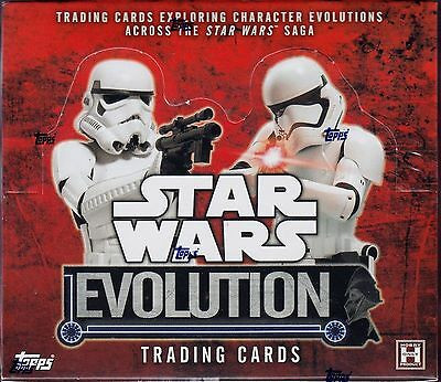 Topps Star Wars Evolution (2016) sealed unopened hobby box 24 packs of 8 cards