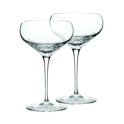 NEW Wedgwood Sequin Champagne Saucer Pair