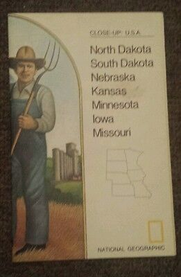 National Geographic Map of The North Central States (March 1974)