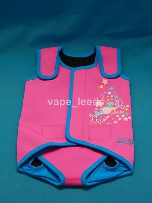 Brand New Zoggs Miss Zoggy Neoprene Baby Wrap Baby Wetsuit Pink/Blue 3-24 months