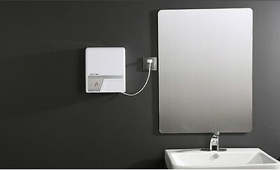 White Plastics Wall Mounted Automatic Induction Quick Drying Hand Dryer Machine