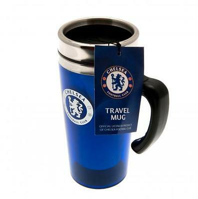 Chelsea FC Official Crested 450ml Stainless Steel Travel Mug Present Gift