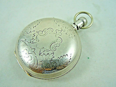 Waltham Full Hunter Engraved Coin Silver Case. C.1896 Runs Well.