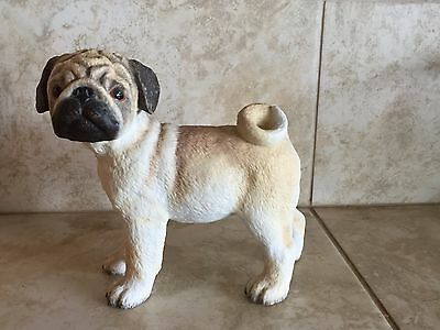 Limited-Edition-Lenox-Porcelain-Pug-Dog-Figurine-Excellent-With-Papers And Box