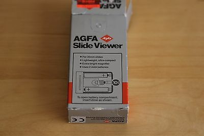AGFA Slide Viwer 135B FOR 2X2 SLIDES - IN BOX Free shipping