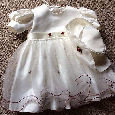 GORGEOUS size 12/18 Months Flower Girl/bridesmaid/party Dress & Hat  NEW