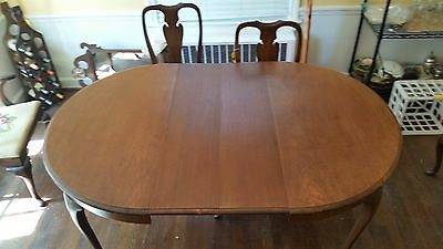 Antique Mahogany Dining Table and Six Chairs