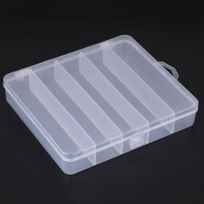 Fishing Lure Bait Tackle Box 5 Compartment Tool Storage Case Organizer Container