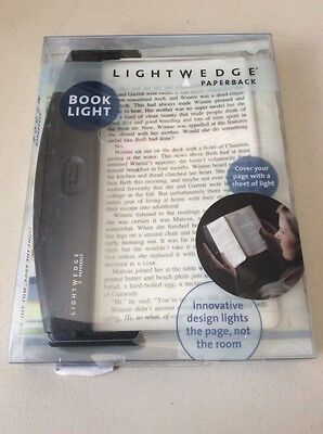 LightWedge Paperback Book Light, Black