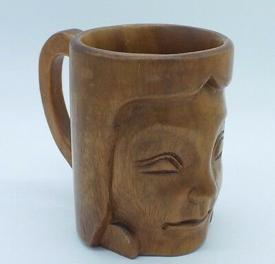 Wooden Hand Carved Philippines Large Mug Tankard
