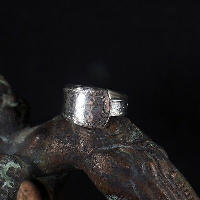 Vintage Sterling Silver-plated Spoon Ring Statement Ring Flatware Jewelry Size 8