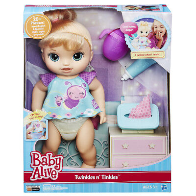 Baby Alive Twinkles & Tinkles Blonde Doll - NEW