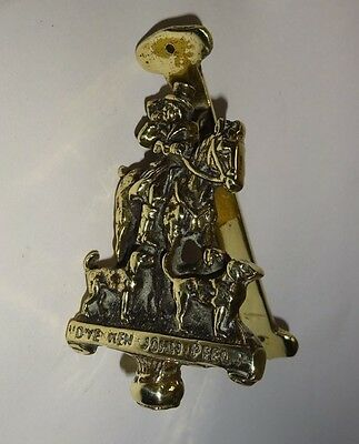 Antique Brass Door Knocker Huntman D'Ye Ken John Peel