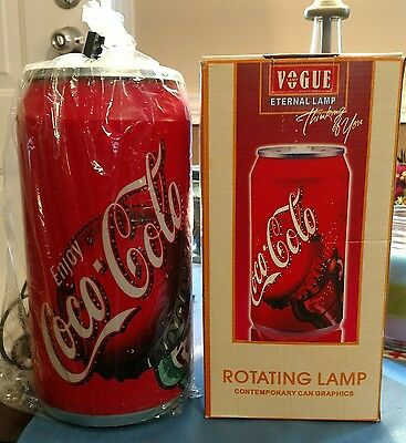 """Coco-Cola """"vogue Eternal Lamp""""  Brand New Lighted Coke Rotating Lamp"""