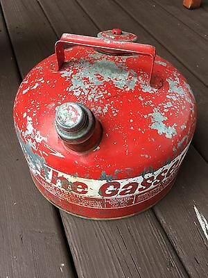 """Vintage Eagle """"the Gasser"""" Red 2 1/2 Gallon Galvanized 28 Gauge Steel Gas Can"""