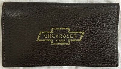 Vintage Chevrolet Executive Leather Walton Organizer Wallet Warren Tech MI Chevy