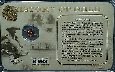 History of Gold Fort Knox, 0.5 gram Gold - American Mint