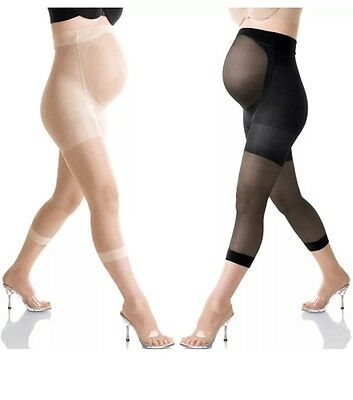Genuine Mama Spanx Maternity Footless Pantyhose Color Nude Size A Brand New