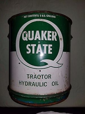Vintage Quaker State 5 Gallon Oil Can - Very Nice!