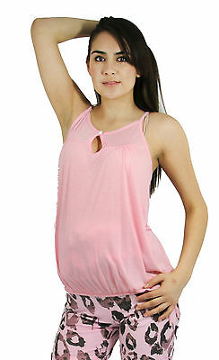 dc844690263e0 Pink Sleeveless Solid Maternity Blouse Pregnancy Top Pregnant Clothes S M L  XL