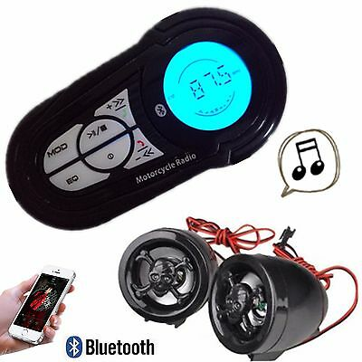 Waterproof Motorcycle Audio Radio Sound System Stereo Speakers MP3 USB Bluetooth