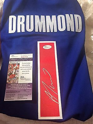 Andre Drummond Signed Autographed Custom Jersey Detroit Pistons With JSA COA