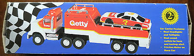 Getty 1995 LIMITED EDITION: TOY RACE CAR CARRIER - NEW
