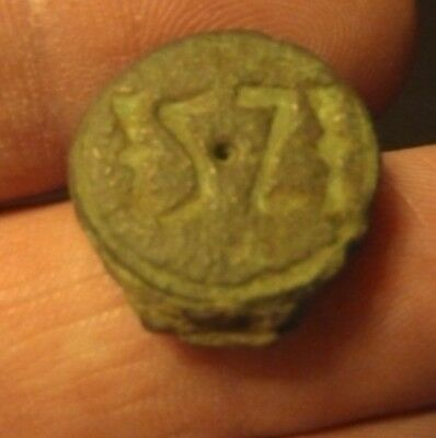 Medieval bronze (57)stamp seal..14th-16th..cen..18mm.