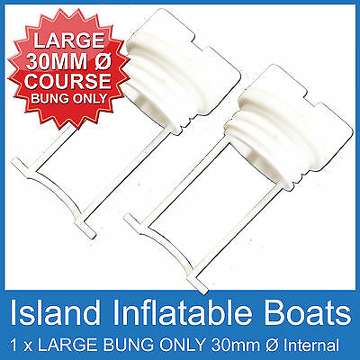 2 X Large ✱ Replacement Bung Only White ✱ Plug Boat Marine Coarse Thread Bungs