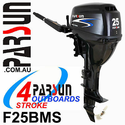 25HP PARSUN Outboard 4-stroke Short Shaft ✱ 2yr FULL FACTORY WARRANTY ✱BRAND NEW